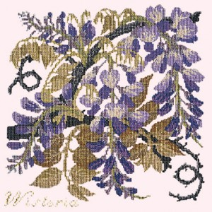 Wisteria on Cream Elizabeth Bradley Tapestry Kit