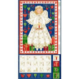 Christmas Angel Advent Calendar Panel