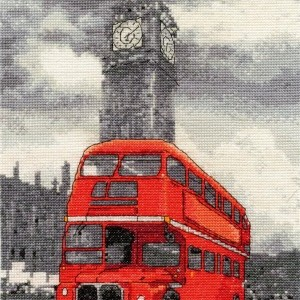 London Bus Counted Cross Stitch Kit by DMC