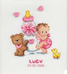 Lucy Birth Sampler Cross Stitch Kit