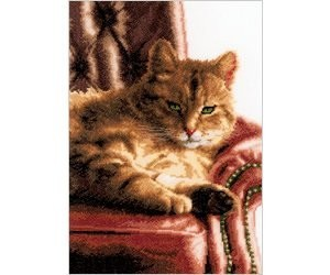Relaxed Tabby Counted Cross Stitch Kit by Lanarte