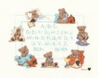 The Sampler Birth Sampler Cross Stitch Kit by Vervaco