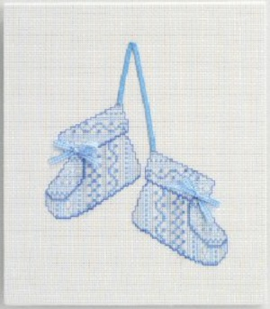 Baby Slippers Counted Cross Stitch Kit by DMC
