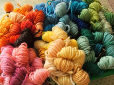 2 Ply Crewel Wool Hanks