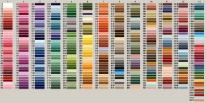 Anchor Stranded Cotton Color Chart