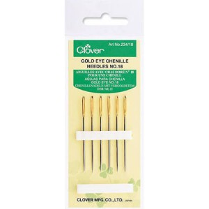 Clover Gold Eye Size 18 Chenille Needles