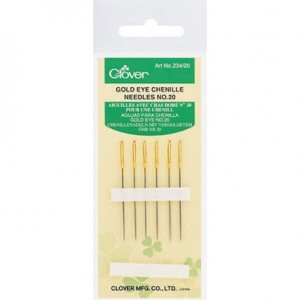 Clover Gold Eye Size 20 Chenille Needles