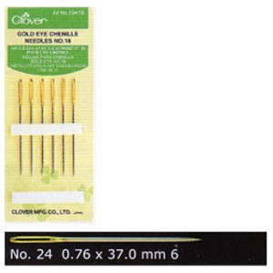 Clover Gold Eye 24 Chenille Needles