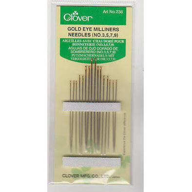 Clover Gold Eye 3, 5, 7, 9 Milliners Needles
