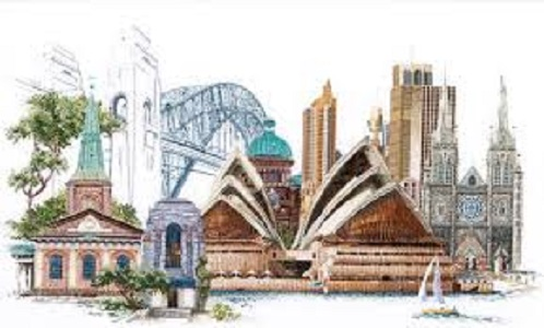 Sydney Harbour Counted Cross Stitch Kit