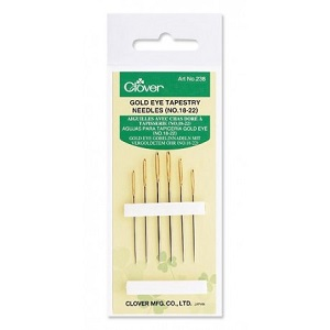 Clover Gold Eye Size 18/22 Tapestry Needles