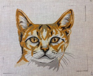 Ginger Tabby Cat Tapestry Kit