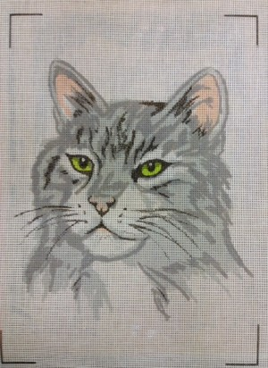 Grey Tabby Cat Tapestry Kit