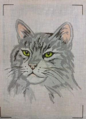 Grey Tabby Cat Tapestry Kit