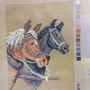 Two Horses Tapestry Kit