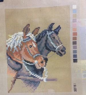 Two Horses Tapestry Kit