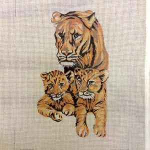 Tiger and Cubs Tapestry Kit
