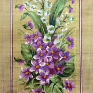 Violets and Snowdrops Tapestry