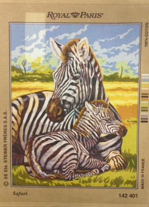 Zebras on Safari Tapestry