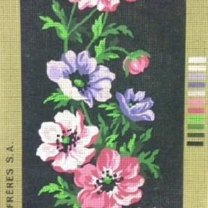 Anemones on Black Tapestry