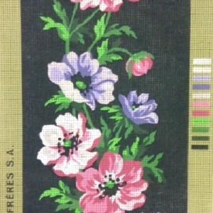 Anemones on Black Tapestry