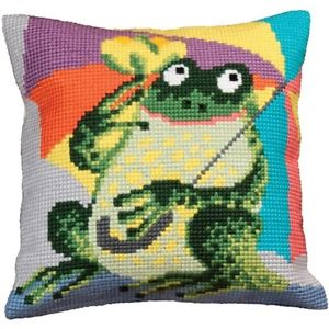Mr Croa Cross Stitch Cushion Kit