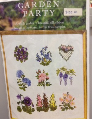 Garden Party Ribbon Embroidery Kit