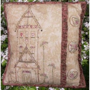 Home Sweet Home Cushion Pattern by Thimblestitch