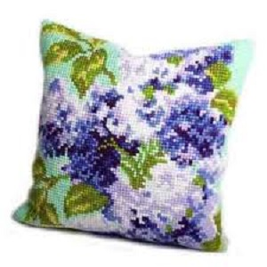 Lilas Double Cross Stitch Cushion Kit
