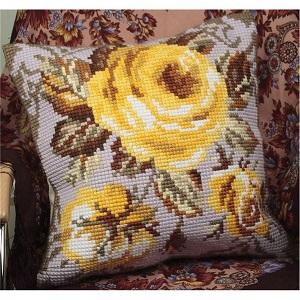 Rose Antique Cross Stitch Cushion Kit