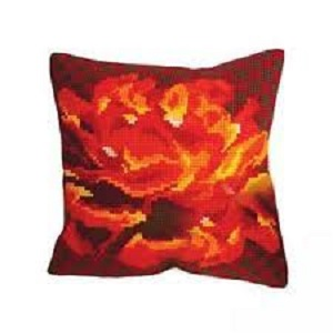 Rose Velours Cross Stitch Cushion Kit