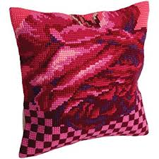 Rose Cocktail Cross Stitch Cushion Kit