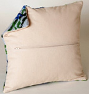 Zippered Cushion Back
