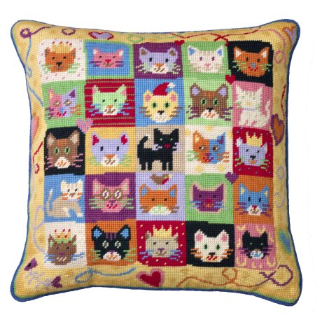 Kitten Caboodle Tapestry Cushion Kit