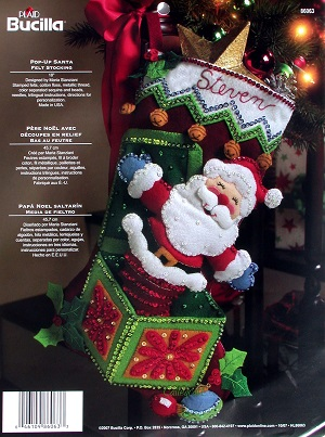 Pop Up Santa Bucilla Felt Stocking