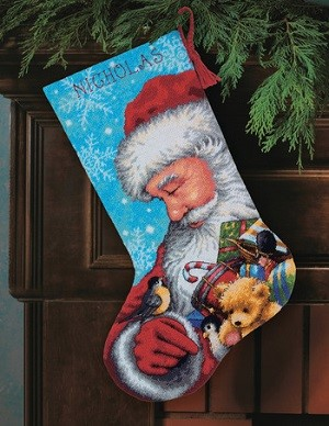 Dimensions Santa And Toys Christmas Stocking Kit