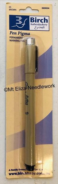 Brown Permanent Pigma Liner Pen