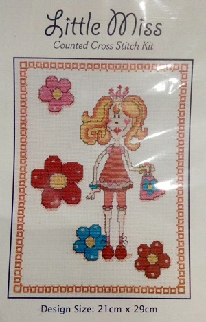 Little Miss Shopping Counted Cross Stitch Kit by DMC