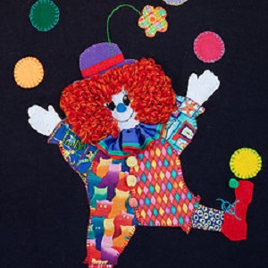 Send in the Clowns Baby Blanket Kit by Catherine Howell Designs