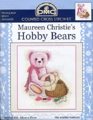 Stitching Bear Counted Cross Stitch Kit by DMC