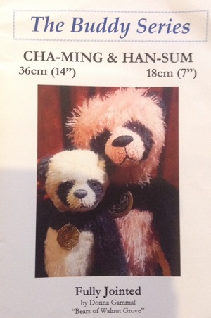 Cha-Ming 14 inch and Han-Sum 7 inch Panda Bear Patterns