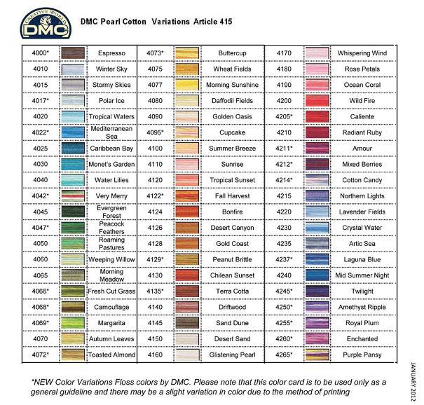 Bucilla Color Chart Todayss