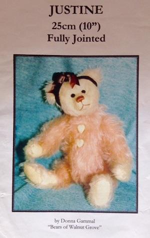 Justine 10 inch Teddy Bear Pattern