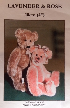 Lavender and Rose 4 inch Teddy Bear Pattern