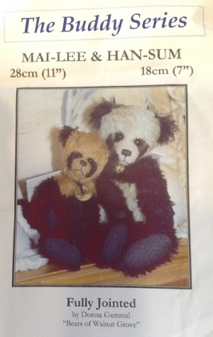 Mai-Lee 11 inch and Han-Sum 7 inch Panda Bear Patterns