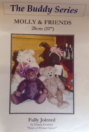Molly and Friends 11 inch Teddy Bear Pattern