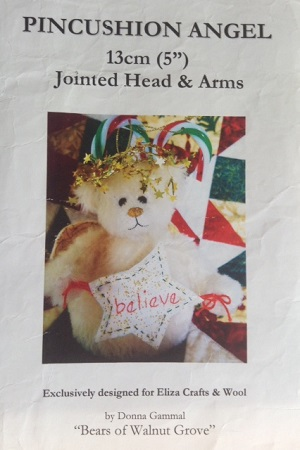 Pin Cushion Angel 5 inch Bear Pattern