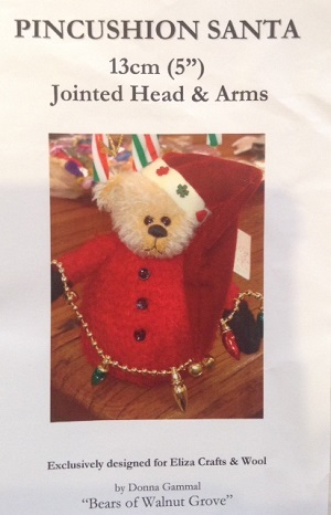 Pin Cushion Santa 5 inch Bear Pattern