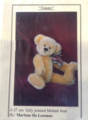Timmy 10 1/2 inch Teddy Bear Pattern