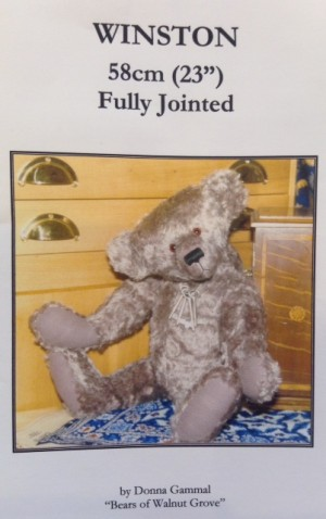 Winston 23 inch Teddy Bear Pattern